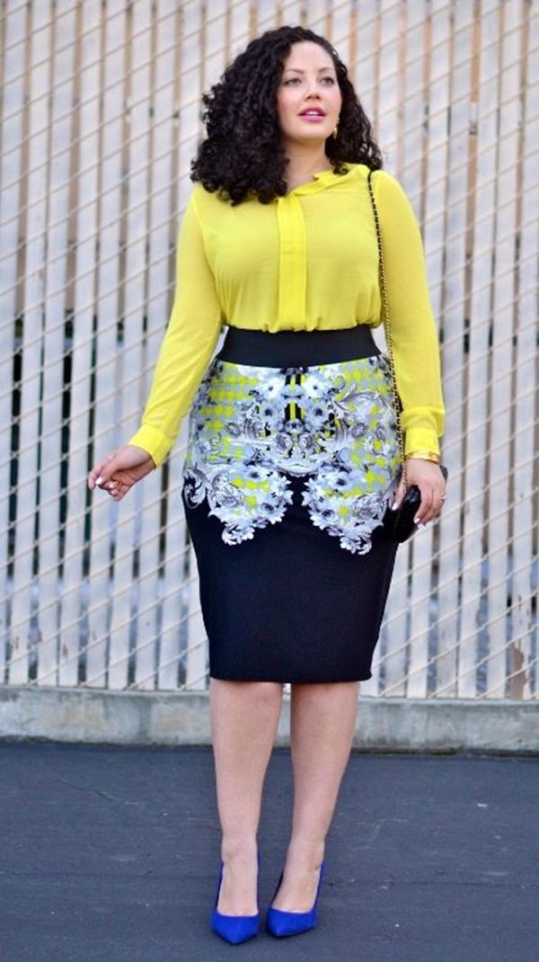 fe90d5fb59c ... Office Approved Outfits For Plus Size Women. Yellow For Work  Why Not!  Image Source