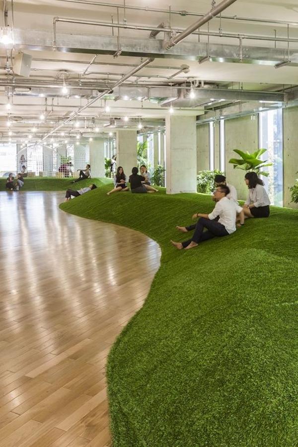 Green Room Garden Design: 40 Refreshing Indoor Office Garden Ideas
