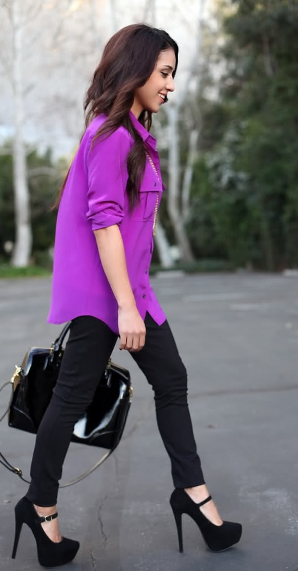 15 Types of Cute Long Shirts to Wear with Leggings - Office Salt
