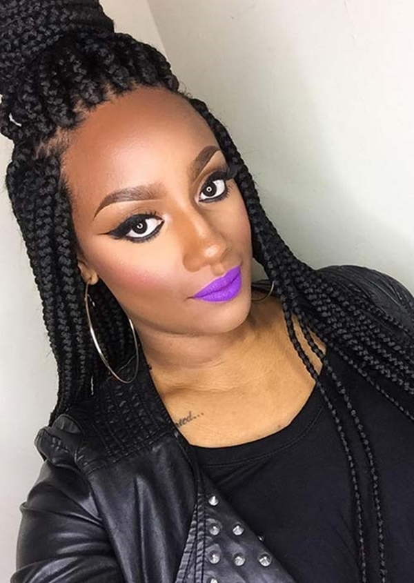 40 Unique Box Braids Hairstyles to Make You Look Super - Office Salt